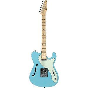 Guitarra Tagima T484 Telecaster Semi Acústica Hand Made In Brazil Azul Pastel
