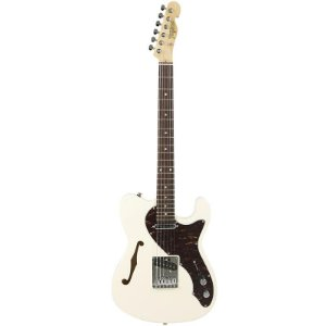 Guitarra Tagima T484 Telecaster Semi Acústica Hand Made In Brazil Branco Vintage