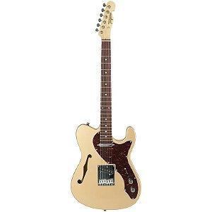 Guitarra Tagima T484 Telecaster Semi Acústica Hand Made In Brazil Dourada