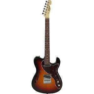 Guitarra Tagima T484 Telecaster Semi Acústica Hand Made In Brazil Sunburst