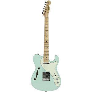 Guitarra Tagima T484 Telecaster Semi Acústica Hand Made In Brazil Verde Pastel