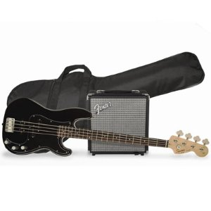 Kit Contrabaixo Fender Squier Affinity PJ Bass Rumble 15 Black
