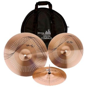"KIT PRATO ORION WS90 WHISPER C/ BAG 14"" 18"" 20"" BRONZE"