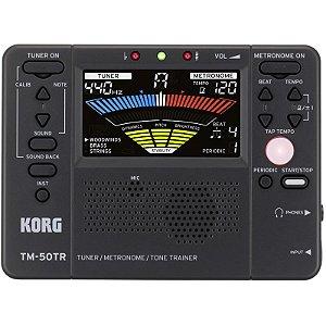 Afinador Metrônomo Korg Tm-50tr-bk Compacto Com Treinador Digital