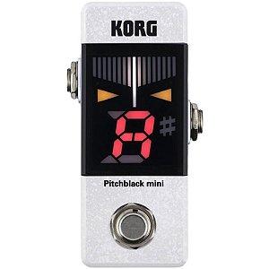 Pedal Afinador Korg Pitchblack Pb-mini Wh Branco