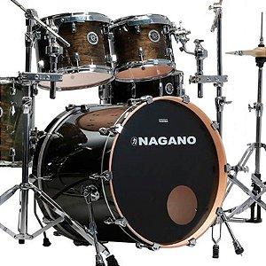 Bateria Acústica Nagano Concert Traditional Lacquer Matte Black