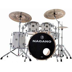 Bateria Acústica Nagano Concert Traditional Lacquer Pure White