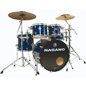 Bateria Nagano Concert Traditional Celulloid Brooklin Blue