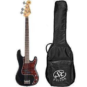Contrabaixo Sx Precision Bass Bd2 4 Cordas Com Bag Preto
