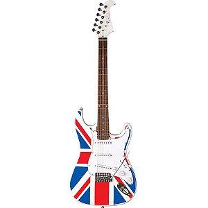Guitarra Stratocaster Eagle STS001UK Bandeira Inglaterra