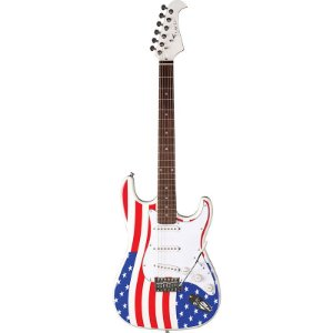 Guitarra Stratocaster Eagle STS001 US Bandeira EUA