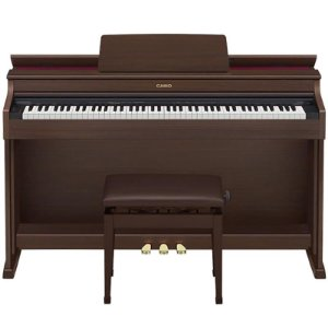Piano Digital 88 Teclas Sensitivas Ap470 BN Marron Casio Com Pedal