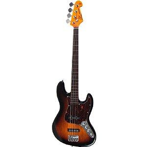 Contrabaixo Sx Jazz Bass 1962 Fretless 4 Cordas Sunburst