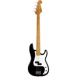 Contrabaixo Sx Precision Bass Spb57 4 Cordas Preto Com Bag