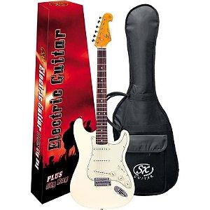 Guitarra Stratocaster Sx Sst62Vwh Vintage White Com Bag