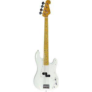 Contrabaixo Sx Precision Bass Spb57 4 Cordas Branco Com Bag