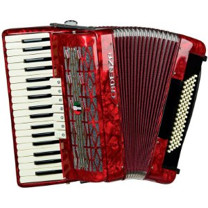Acordeon Sanfona 80 Baixos Cadenza CD80/37 RD Vermelho Com Case
