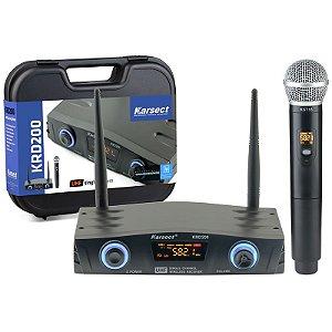 Microfone Sem Fio Mão Karsect KRD200SM 1 Bastão