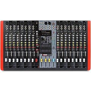 Mesa de Som 16 Canais Novik Neo NVK16M USB Mixer