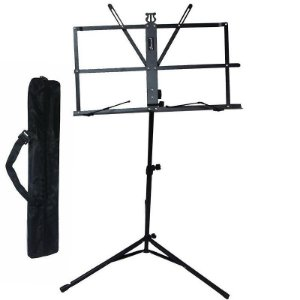 Estante Partitura Pastas Suporte Pedestal Regulavel Com Bag