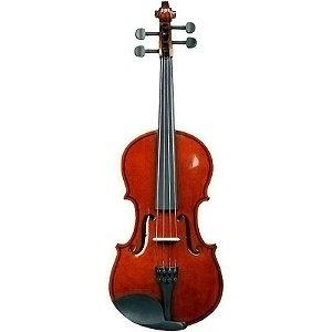 Kit Violino Barato 1/2 Completo Com Case E Arco Concert CV
