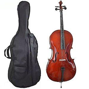 Violoncelo Cello 4/4 Profissional C/ Case Tampo Maciço CBE44