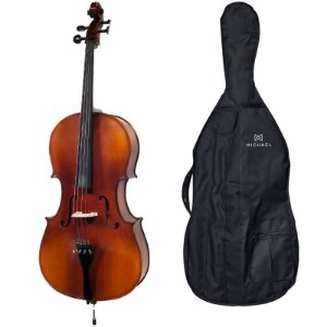 VIOLONCELO CELLO 4/4 MICHAEL VOM140 ÉBANO SERIES COM BAG