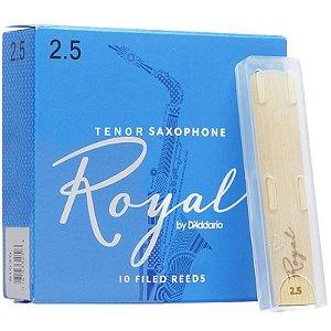 Palheta Rico Royal Sax Tenor 2.5 RKB1025 10 Unidades