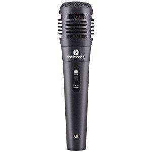 Microfone HARMONICS Supercardióide Cabo 3m MDC101 Preto