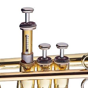Trompete Jupiter JTR700Q Bb (Si bemol) Metal Laqueado Bocal 7C Oléo + Case
