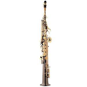 Saxofone Sax Soprano Eagle Sib SP502 Black Ônix Com Case