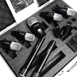 Kit De Microfones Bateria 7 Mics C/ Clamp Tagsound Tg Drum 7