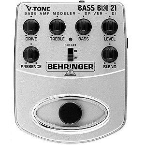 Pedal Drive Modelador V-Tone Contrabaixo Behringer BDI21
