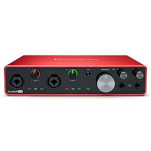 Interface de Áudio Foscurite Scarlett 8i6 3º Geração USB