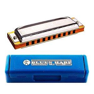 Gaita Harmônica Hohner Blue Harp em Fá Com Estojo