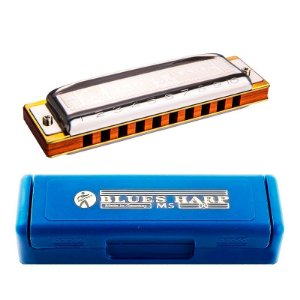 Gaita Harmônica Hohner Blues Harp 532/20 MS C/ Estojo em Ré