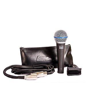 Microfone C/ Fio Profissional Lexsen Estojo e Cabo LM-B58A