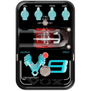 Pedal Vox V8 Tone Garage Valvulado Para Guitarra Distorção