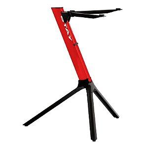 Estante Suporte Teclado Stay Compact 70cm Vermelha Com Capa