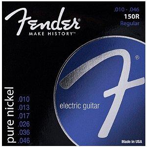 Encordoamento Para Guitarra Fender Aço 150r 0.10 Niquelada