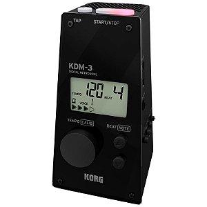 Metrônomo Korg Digital Com 19 Padrões Kdm-3-bk