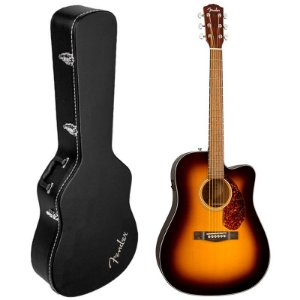 Violão Fender Cd-140 Sce Dreadnought Com Case Sunburst
