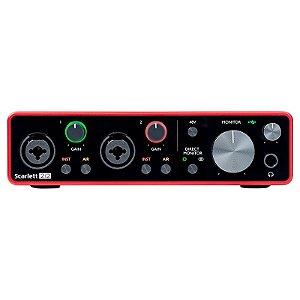Interface de Áudio Focusrite Scarlett 2i2 3rd Gen USB Áudio