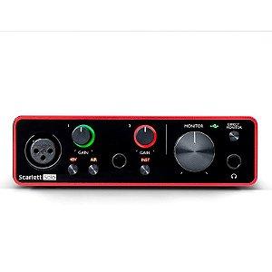 Interface Focusrite Scarlett Solo 3 GeN usb Áudio