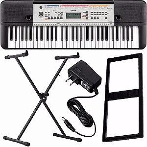 Kit Teclado Musical Yamaha Ypt-260 61 Teclas Fonte + Suporte