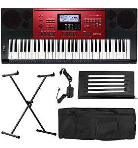 Teclado Musical Casio Ctk6250 61 Teclas Visor Lcd Com Fonte