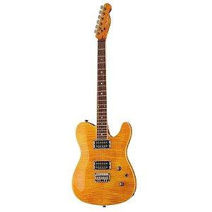 Guitarra Fender Custom Telecaster FMT HH Special Edition Amber