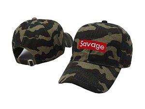 Boné aba curva Savage camuflado