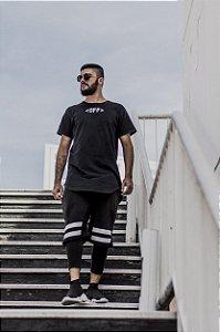 Camisa Off-line Longline Preta