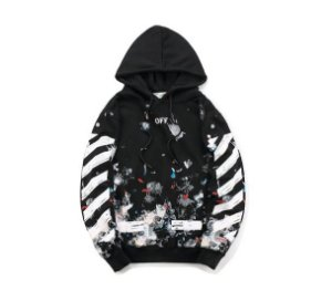 Moletom Off White Fireworks - Preto